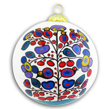 Norval Morrisseau Glass Ornaments - Woodland:: Ornement de verre Norval Morrisseau - Woodland