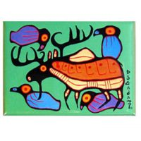 Norval Morrisseau Magnet - Moose Harmony:: Aimant Norval Morrisseau - Moose Harmony