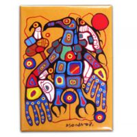 Norval Morrisseau Magnet - Man Changes into Thunderbird:: Aimant Norval Morrisseau - Man Changes into Thunderbird