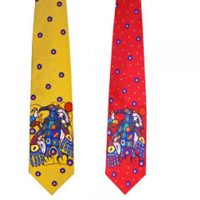 Norval Morrisseau Silk Tie - Man Changes into Thunderbird:: Cravate en soie Norval Morrisseau - Man Changes into Thunderbird