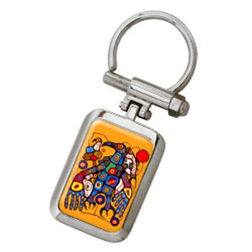Norval Morrisseau Key Holder - Man Changes into Thunderbird:: Porte-cl