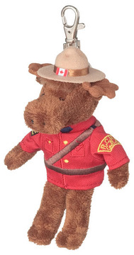 RCMP 5'' moose keychain:: Orignal, le porte-cl