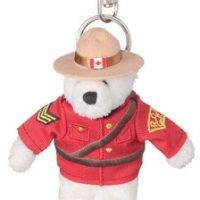 RCMP 5'' polar bear keychain:: Ours polaire, le porte-cl