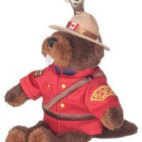 RCMP 5'' beaver keychain:: Castor, le porte-cl