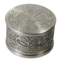 Pewter Round Box:: Bo