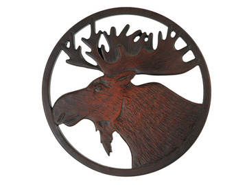 Moose Mini Trivet in Recycled Fiber Glass:: Mini sous-plat orignal en fibre de verre recycl