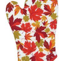 Autumn Maple Leaf Oven Mitt:: Mitaine de four avec des feuilles d'