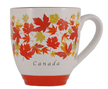 Autumn Maple Leaf Halo Mug:: Tasse en c
