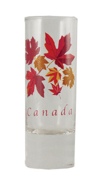 Autumn Maple Leaf Tall Shot Glass:: Verre