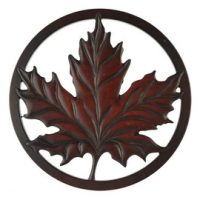 Maple Leaf Trivet in Recycled Fiber Glass:: Sous-plat feuille d'
