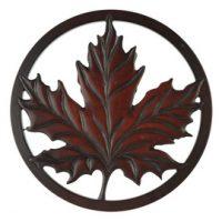Mini Maple Leaf Trivet in Recycled Fiber Glass:: Mini sous-plat feuille d'