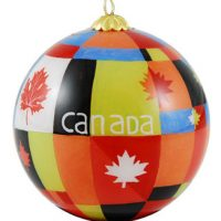 Maple Leaf Flag ornament:: Drapeau feuille d'