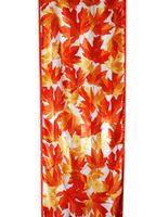 Autumn Maple Leaf on Polysatin Scarf::