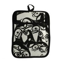 Bill Helin Many Whale Pocket Potholder:: Poche sous-plat avec l'