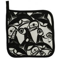 Bill Helin Many Whale potholder:: Sous-plat en tissu < Many Whale>> de Bill Helin