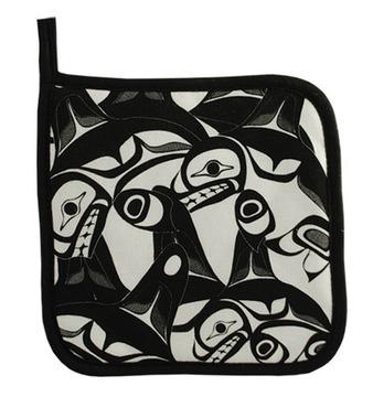 Bill Helin Many Whale potholder:: Sous-plat en tissu < Many Whale>> de Bill Helin