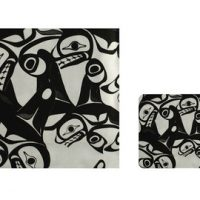 Bill Helin Many Whale Laminated Coasters (4):: Sous-verres (4) lamin