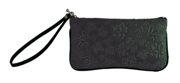 Wristlet Maple Leaves Black:: Sac bracelet feuille d'