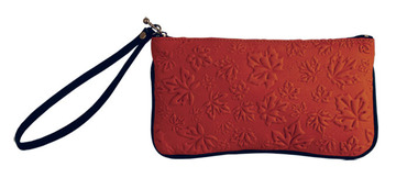 Wristlet Maple Leaves Red:: Sac bracelet feuille d'