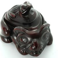 Bear & Frog Spirit Box by Artist Thomas McPhee:: Bo