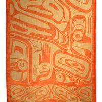 Orange Bear Box Shawl by Clifton Fred::