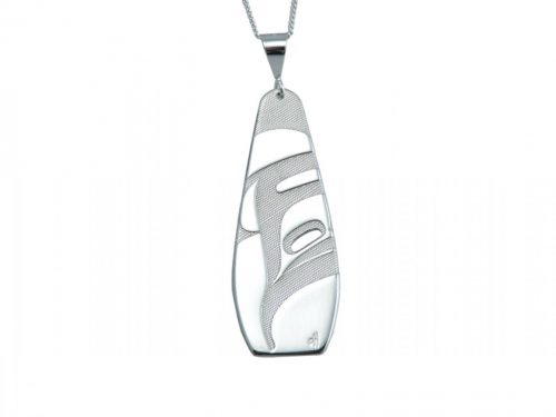 Killer Whale Silver Pewter Pendant by Corrine Hunt