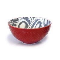 Medium Porcelain Art Bowl - Transforming Eagle by Ryan Cranmer