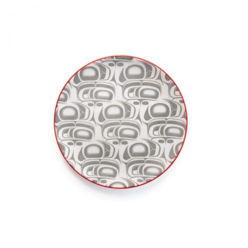 Porcelain Art Plate - Eagle Transforming by Ryan Cranmer