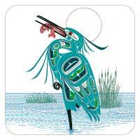 Richard Shorty's Green Heron Coasters