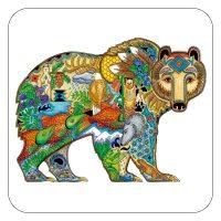 Sue Coccia's Grizzly Bear Coasters
