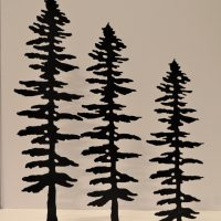 Metal Spruce Sculptures