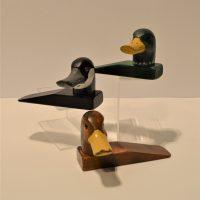 Wedge door stop - wild ducks