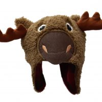 Infant fuzzy moose toque