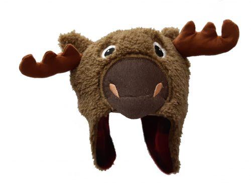 Infant fuzzy moose toque