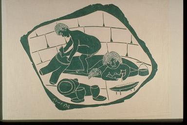 Iqqaipaa cultural objects for Om fishing sinkers