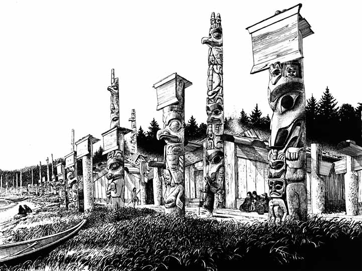 Civilization Ca Haida Haida Villages Houses
