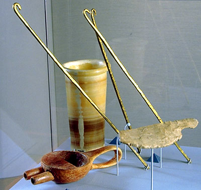 Mummification tools: Brain hooks (replicas based on examples from