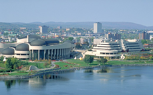 Architectural tour exterior features for Museum of civilization quebec