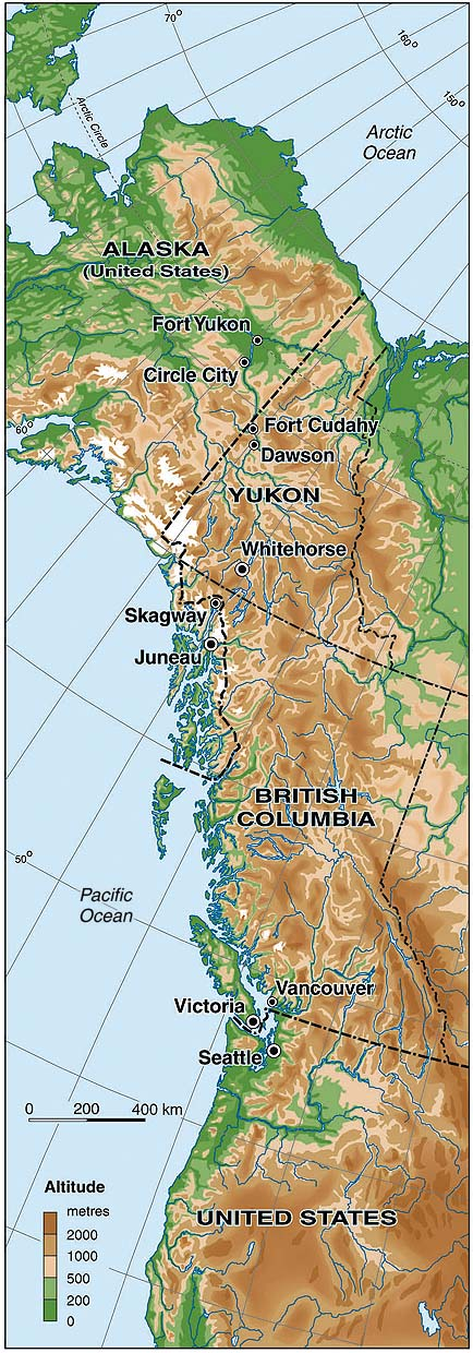Civilizationca Map of West Coast of North America