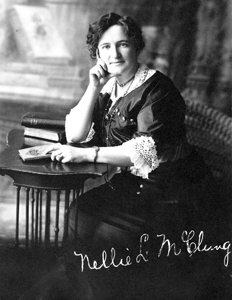 a biography of nellie mcclung a canadian feminist politician author and social activist Nellie l mcclung (1873-1951) is birth control activist, member of the eugenics society of canada women, work, and feminism on the canadian prairie.