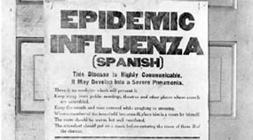 a look at the infamous 1918 spanish influenza outbreak Recurrence of a flu pandemic similar to infamous 1918 flu but when you look at 2017 — nearly a century after the influenza pandemic of 1918.