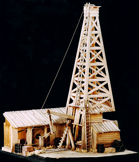 Oil Tower Drawing Oil Rig Model