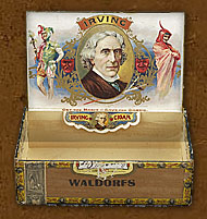 Cigar box label : La Palina