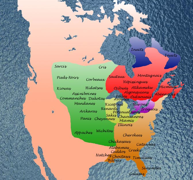 Civilizationca VMNF First Nations Map of North America