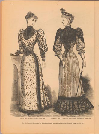 Fashion plates from the journal The Delineator