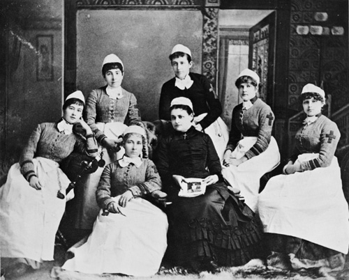 Photograph of Canada's first training school for nurses at the General and Marine Hospital in St. Catharines, Ontario