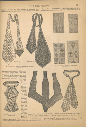 Ties, scarves and socks