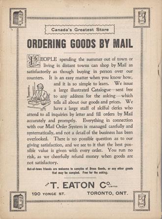 Eaton's advertisement
