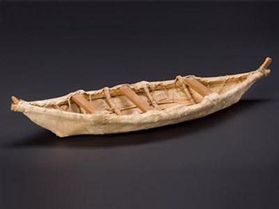 Moose skin boat (model)