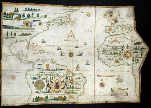 Map of Atlantic Ocean, America